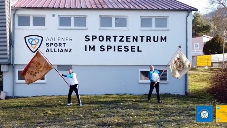Neue Vereinsfahne der Aalener Sportallianz e.V.