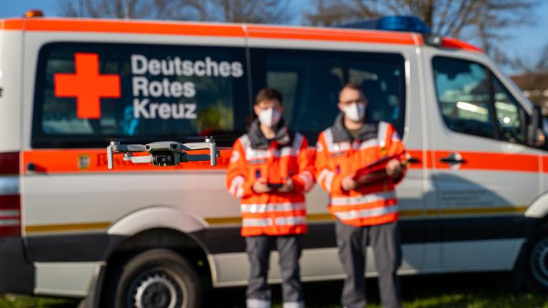 Drohne für Katastrophenschutz