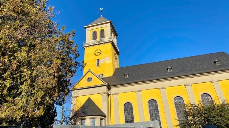 Sanierung des Kirchturmes kath. Kirche Mainz Weisenau