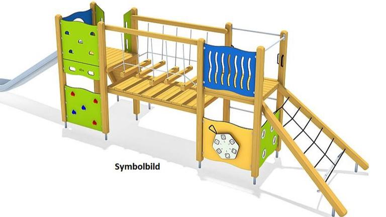 Spielgerät zum Klettern und Balancieren für den Ki