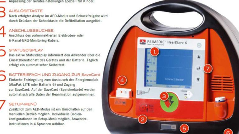 EKG mit Defibrillator für neues Einsatzfahrzeug