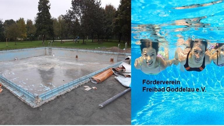 Erneuerung Beckenfolie Nichtschwimmerbecken