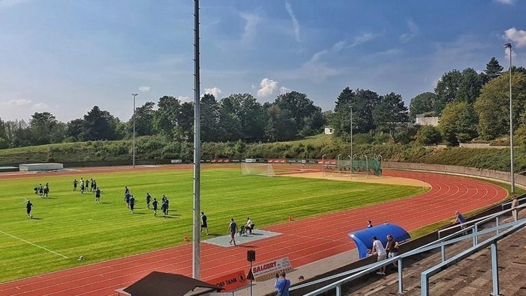Anzeigetafel für das Stadion des Siegburger SV 04