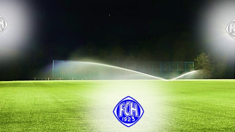 LED-Flutlichtanlage für den Rasensportplatz